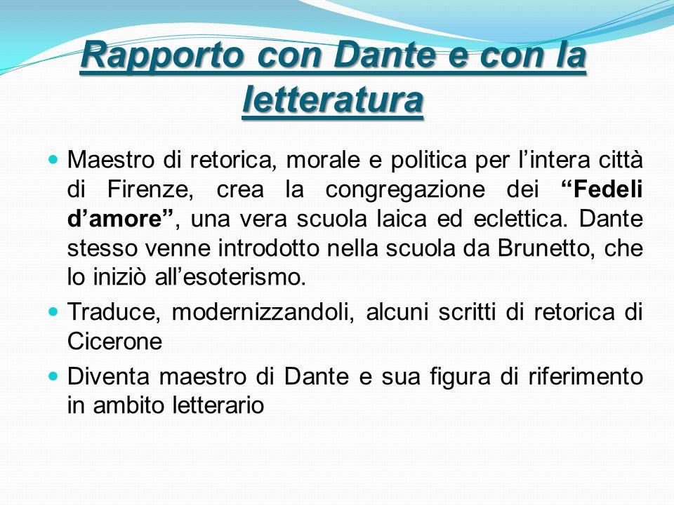 Rapporto con Dante e con la letteratura