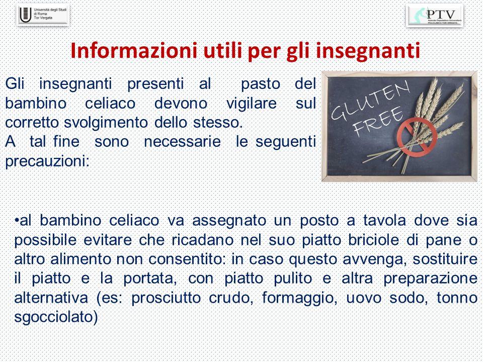 Informazioni utili per gli insegnanti