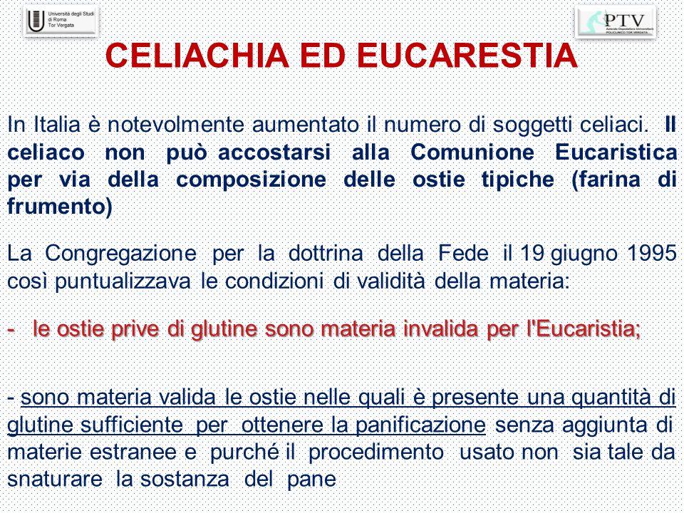 CELIACHIA ED EUCARESTIA