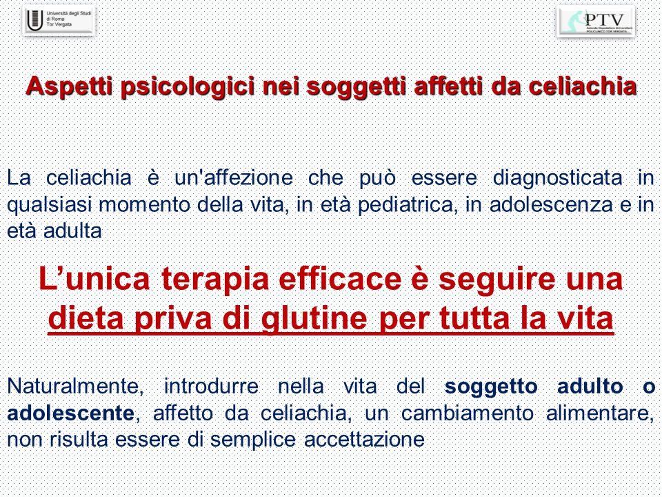 Aspetti psicologici nei soggetti affetti da celiachia