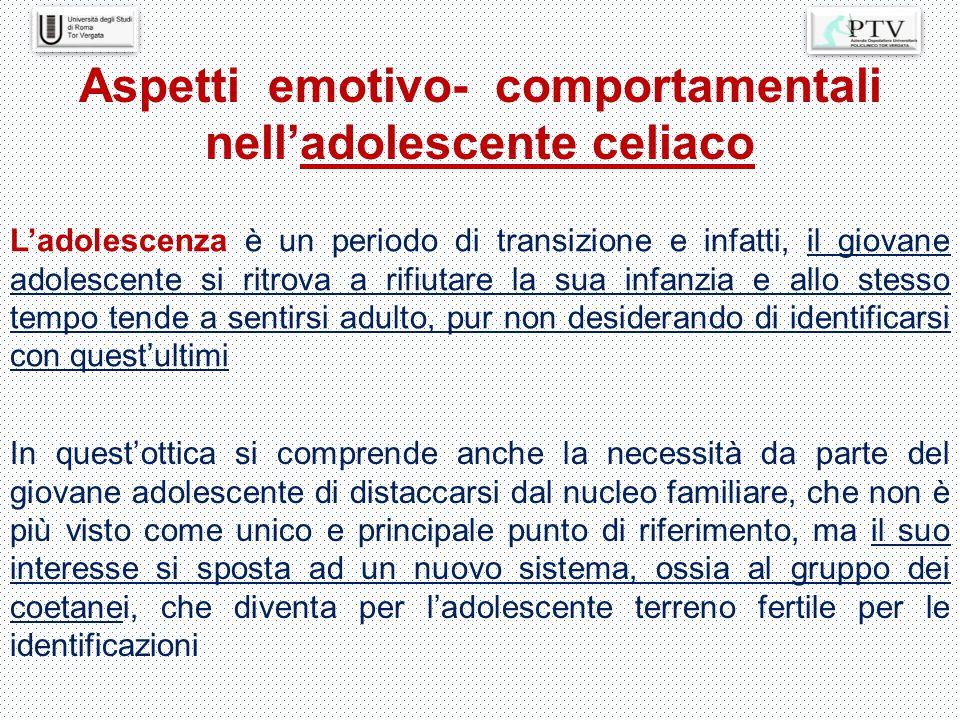 Aspetti emotivo- comportamentali nell'adolescente celiaco