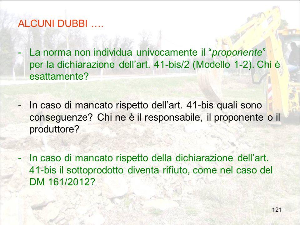 ALCUNI DUBBI …. La norma non individua univocamente il proponente per la dichiarazione dell'art. 41-bis/2 (Modello 1-2). Chi è esattamente