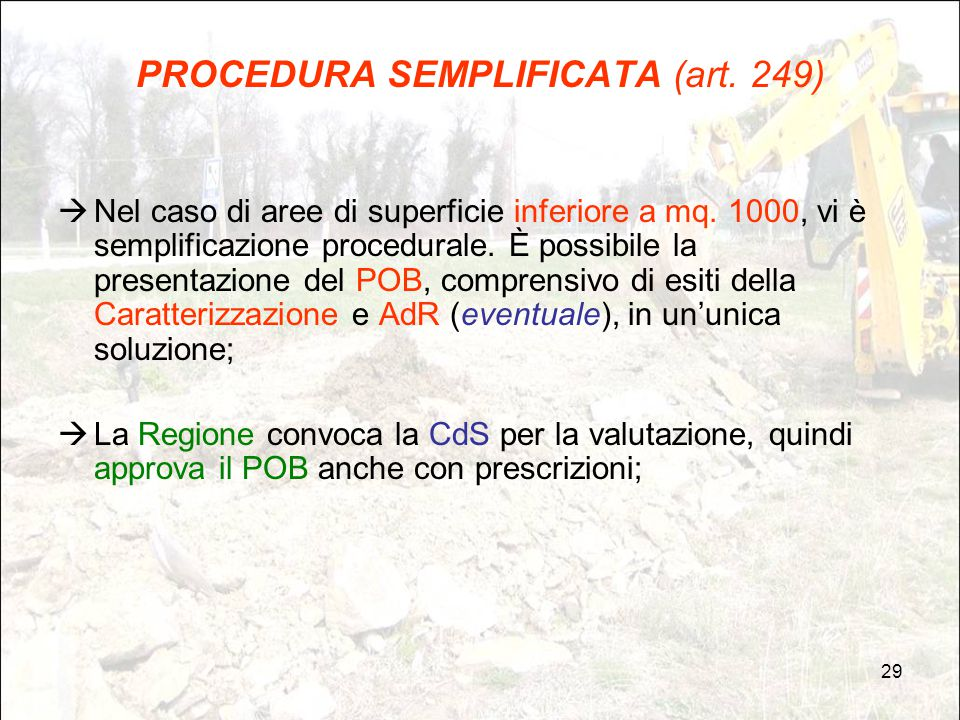 PROCEDURA SEMPLIFICATA (art. 249)