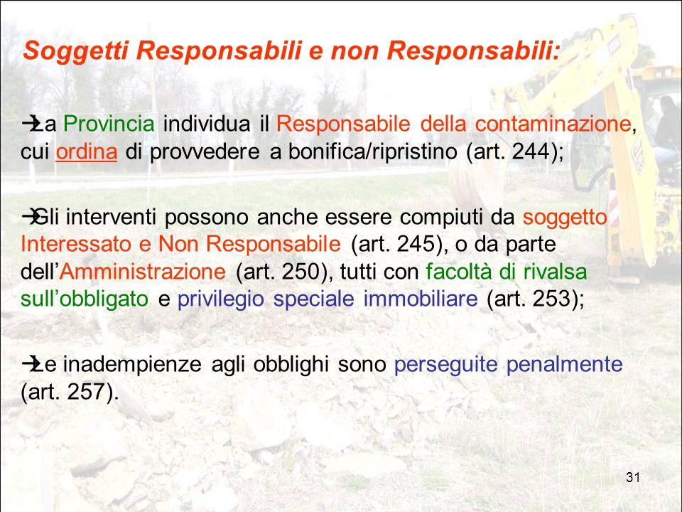 Soggetti Responsabili e non Responsabili: