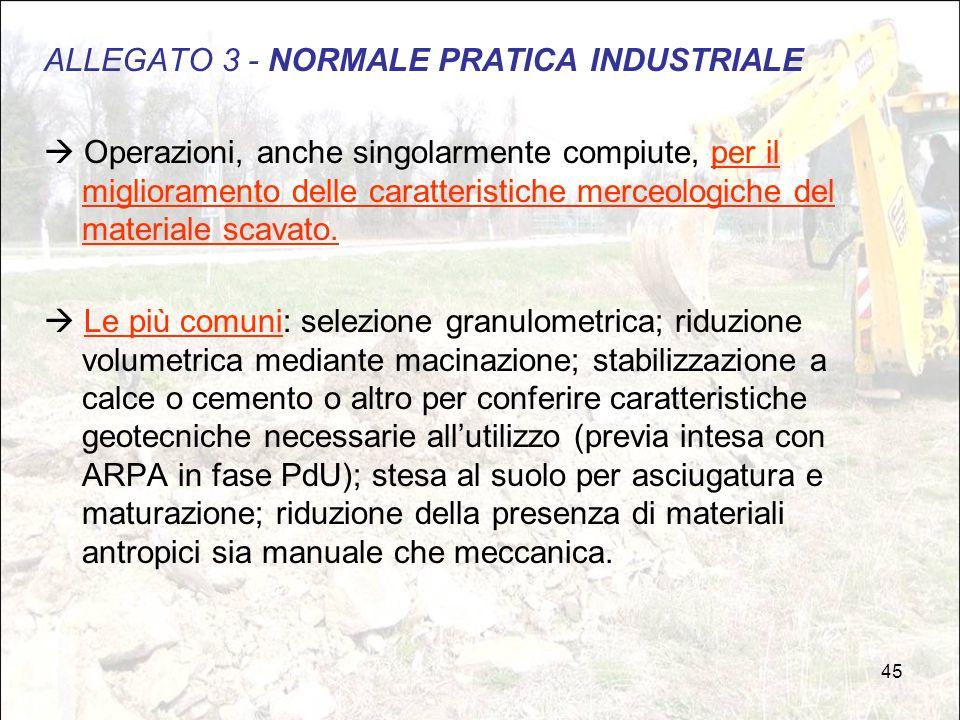 ALLEGATO 3 - NORMALE PRATICA INDUSTRIALE