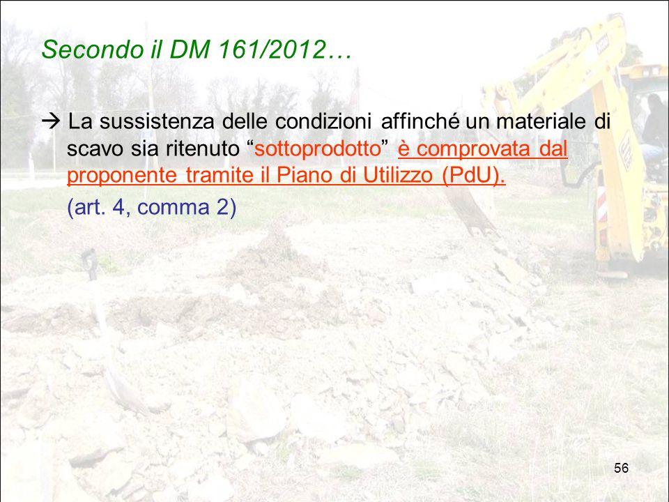 Secondo il DM 161/2012…