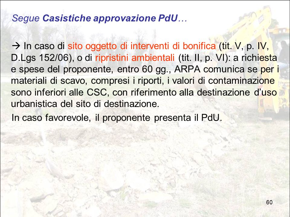 Segue Casistiche approvazione PdU…