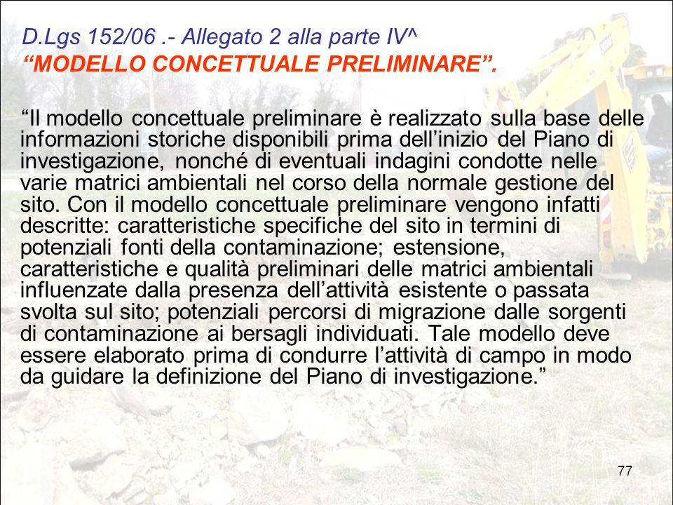D.Lgs 152/06 .- Allegato 2 alla parte IV^