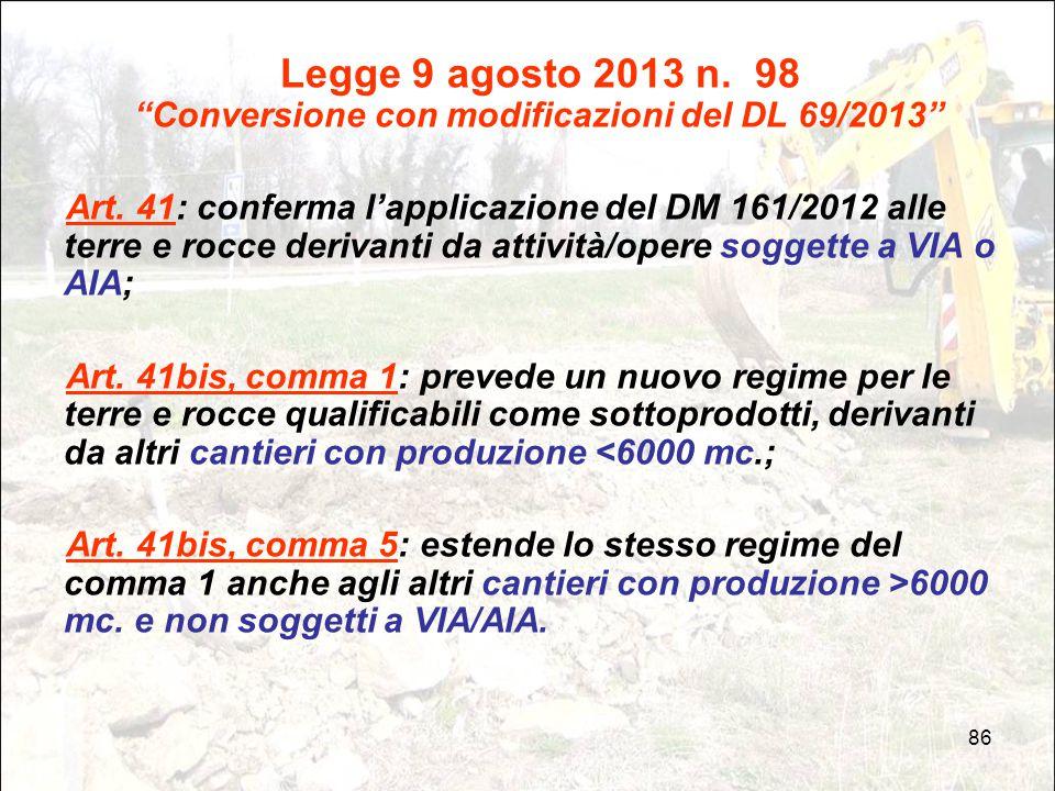Legge 9 agosto 2013 n. 98 Conversione con modificazioni del DL 69/2013