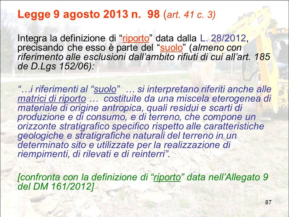 Legge 9 agosto 2013 n. 98 (art. 41 c. 3)