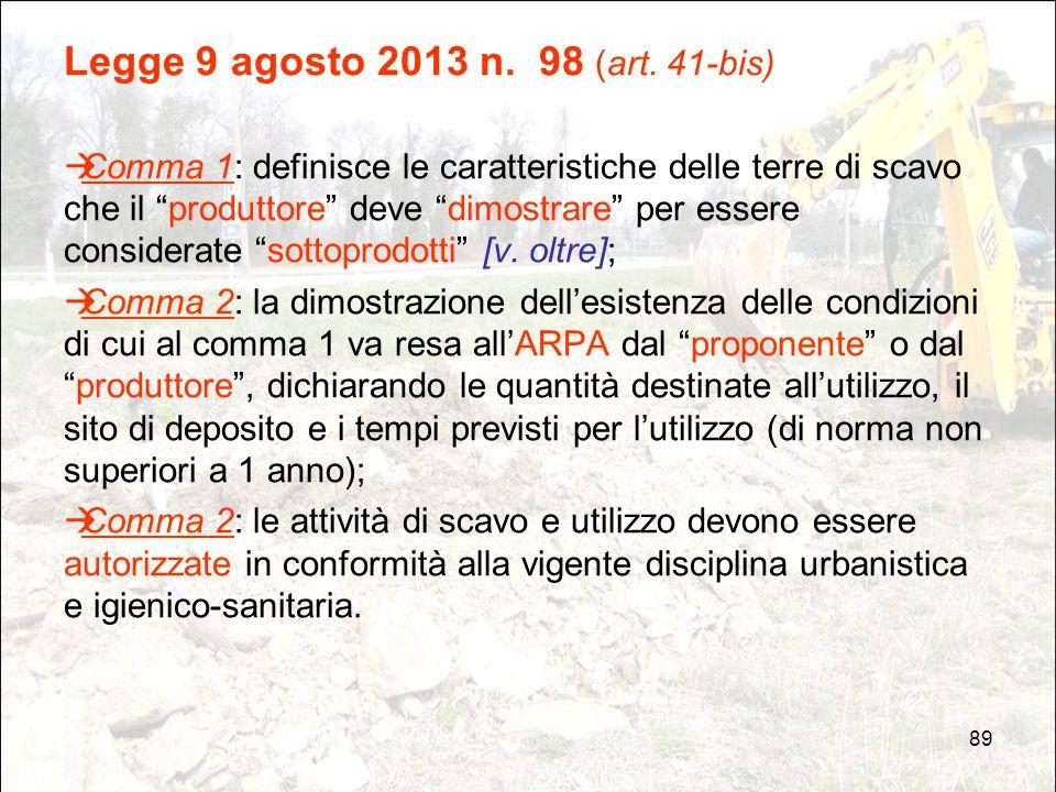 Legge 9 agosto 2013 n. 98 (art. 41-bis)