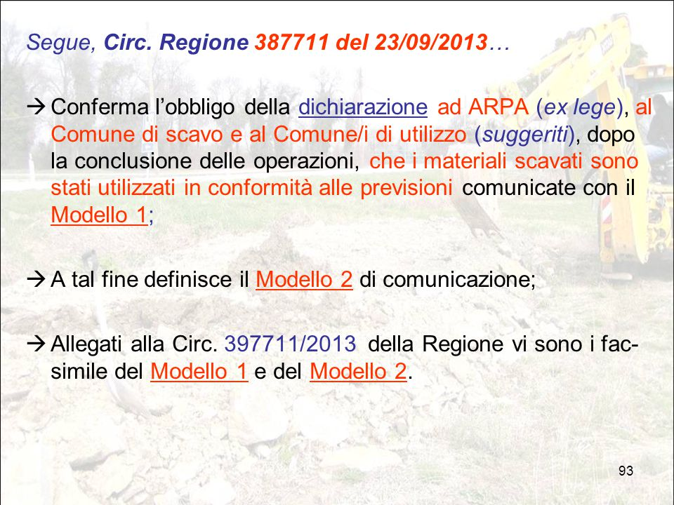 Segue, Circ. Regione 387711 del 23/09/2013…