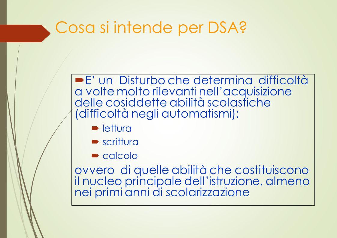 Cosa si intende per DSA