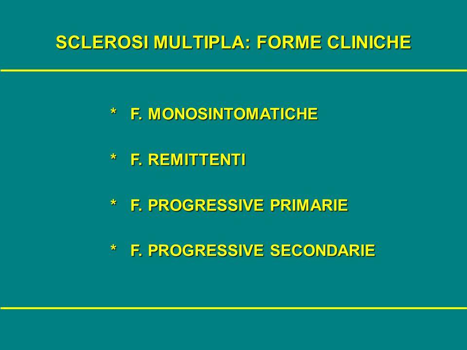 SCLEROSI MULTIPLA: FORME CLINICHE