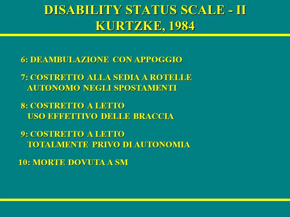 DISABILITY STATUS SCALE - II KURTZKE, 1984