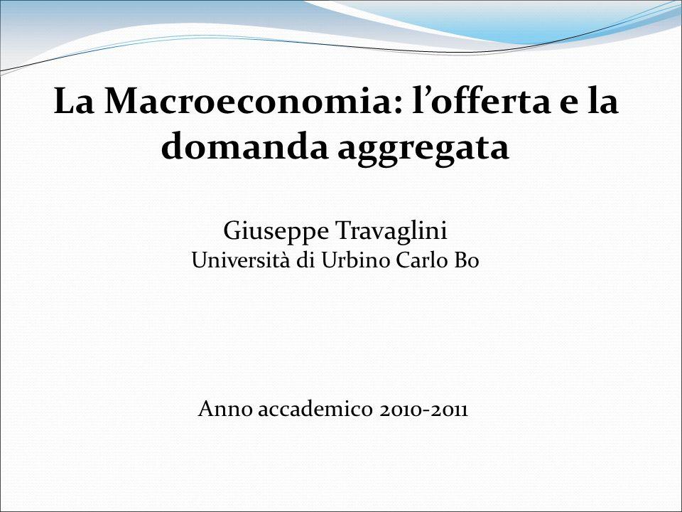La Macroeconomia: l'offerta e la domanda aggregata