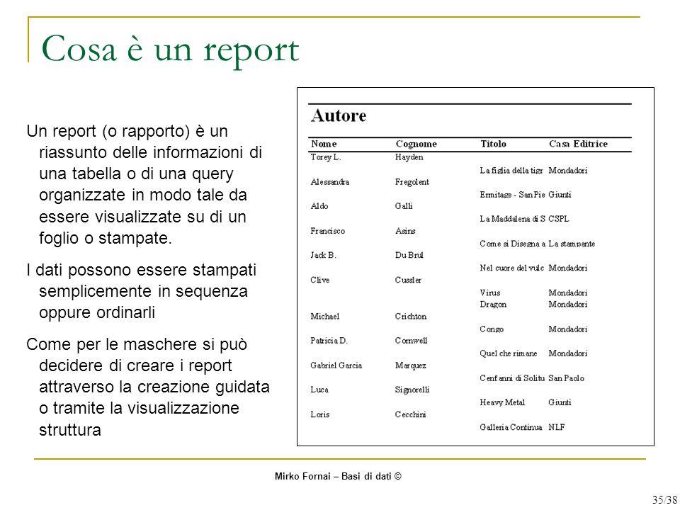 Cosa è un report