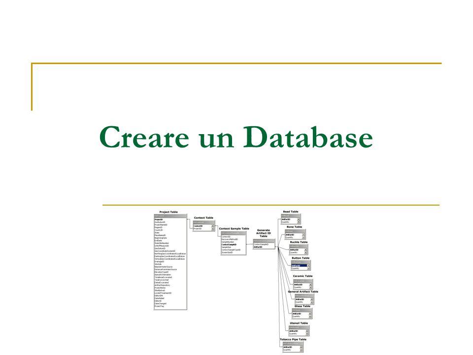 Creare un Database