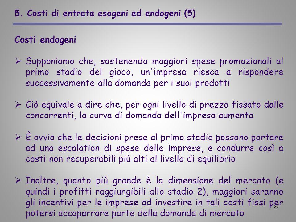 5. Costi di entrata esogeni ed endogeni (5)