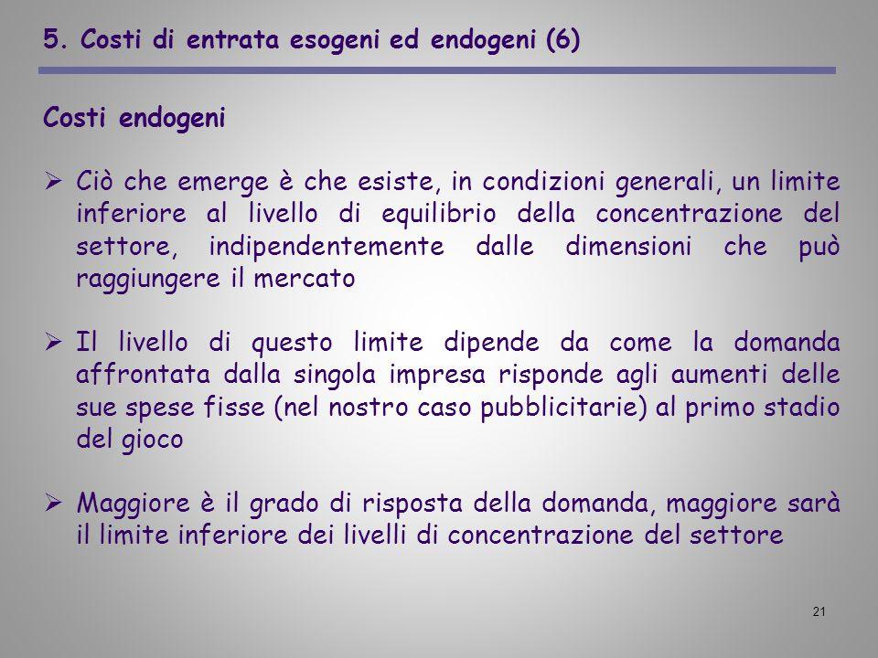 5. Costi di entrata esogeni ed endogeni (6)