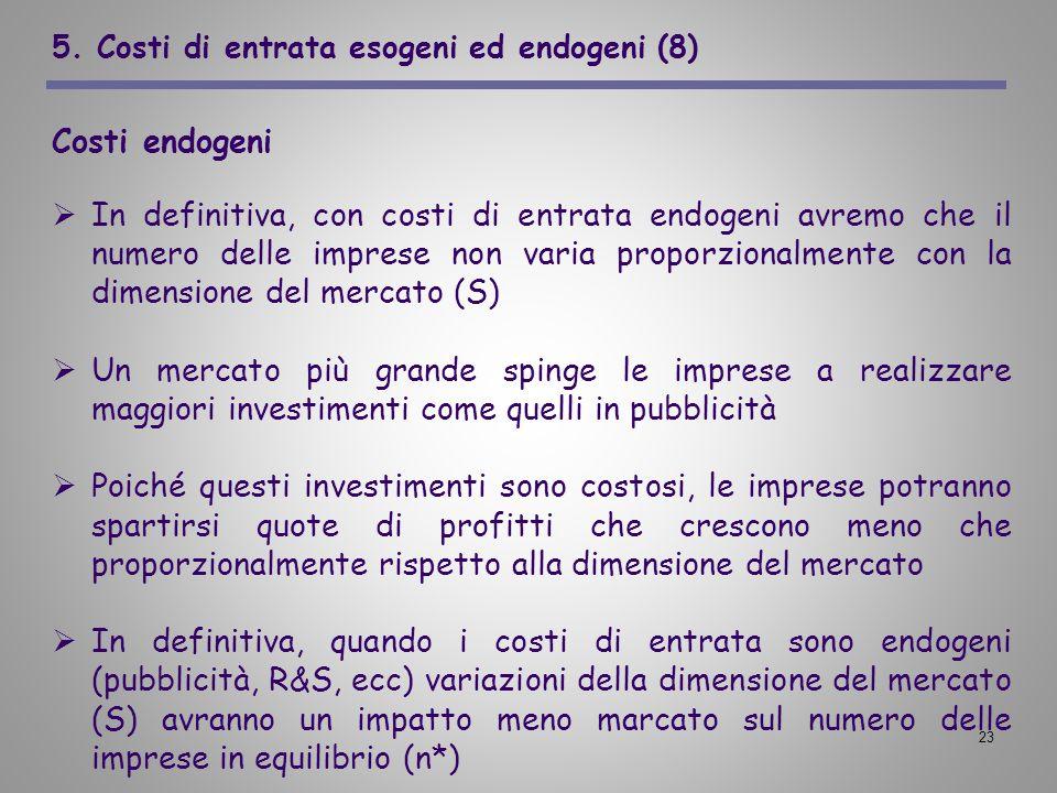 5. Costi di entrata esogeni ed endogeni (8)