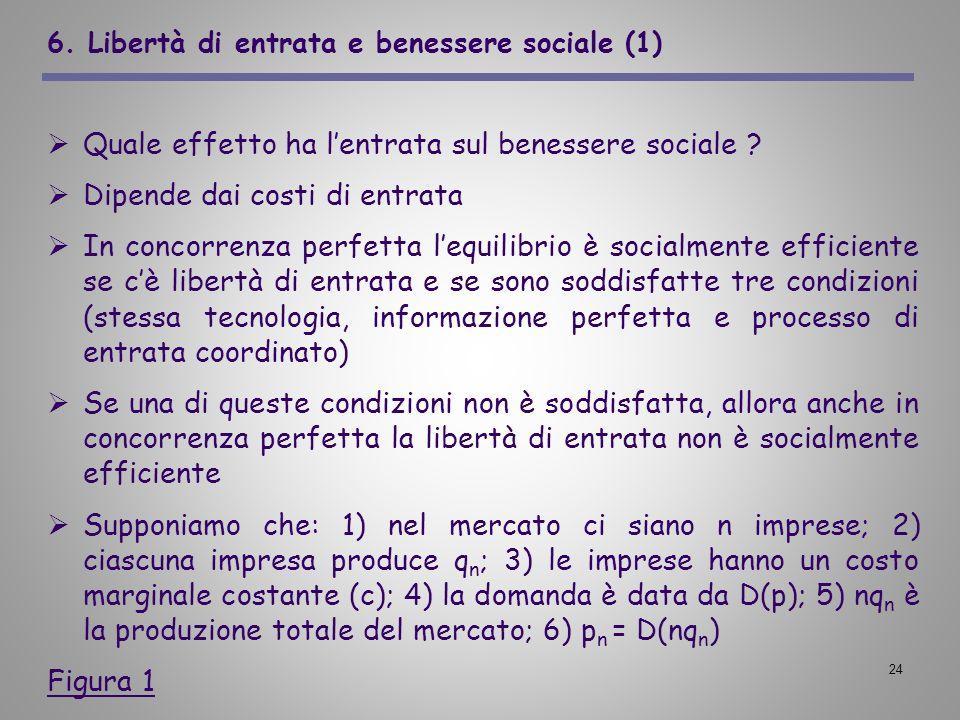 6. Libertà di entrata e benessere sociale (1)