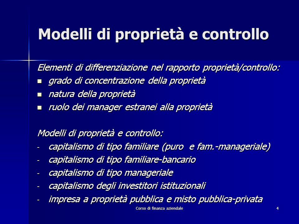 Modelli di proprietà e controllo