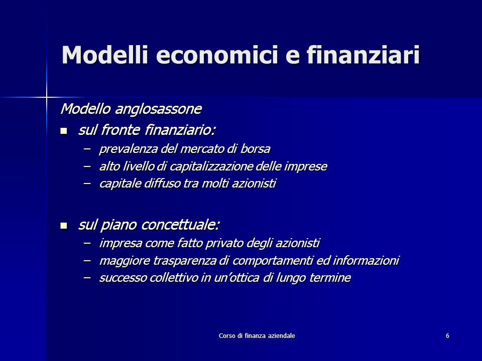 Modelli economici e finanziari
