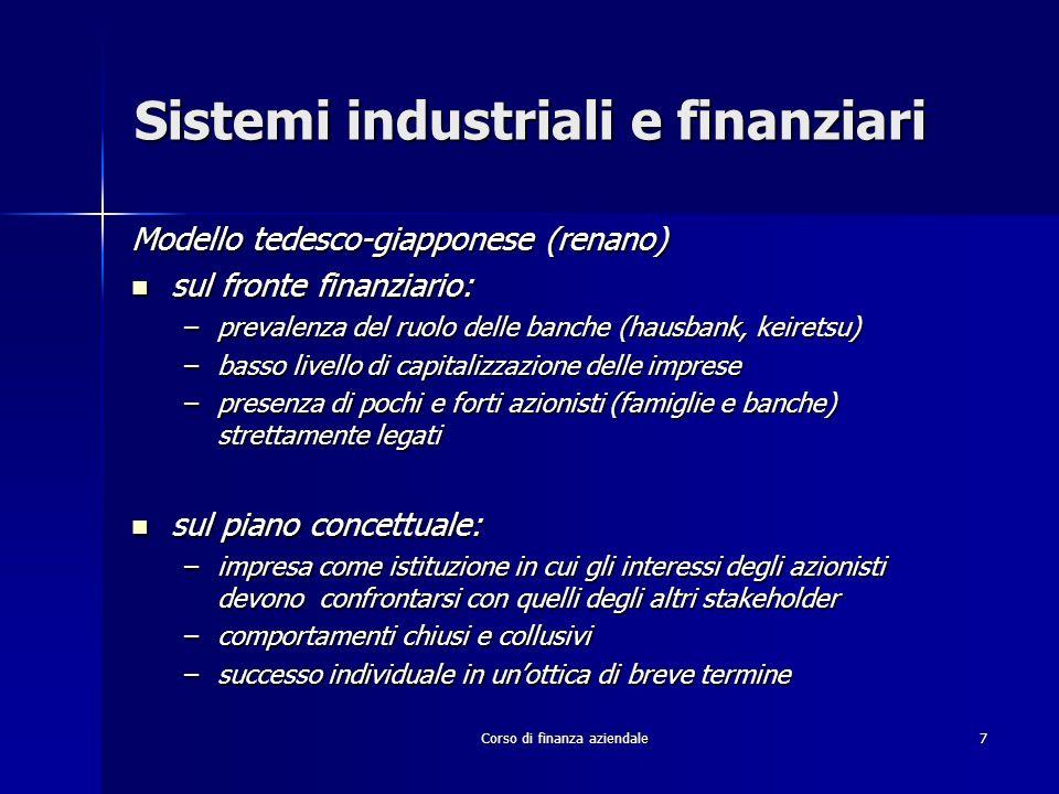 Sistemi industriali e finanziari