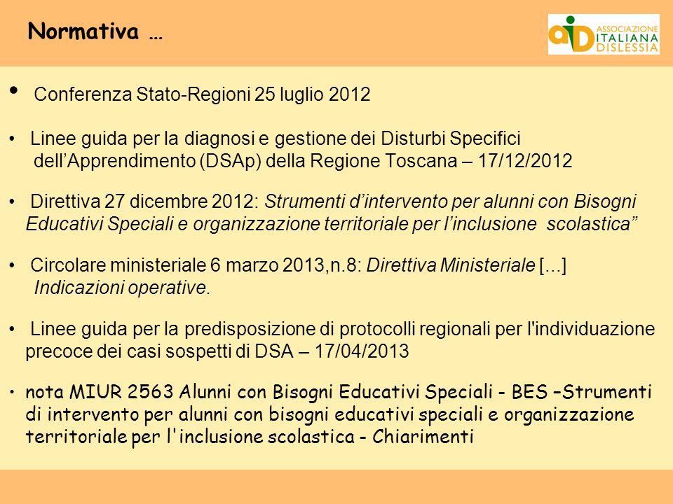 Conferenza Stato-Regioni 25 luglio 2012