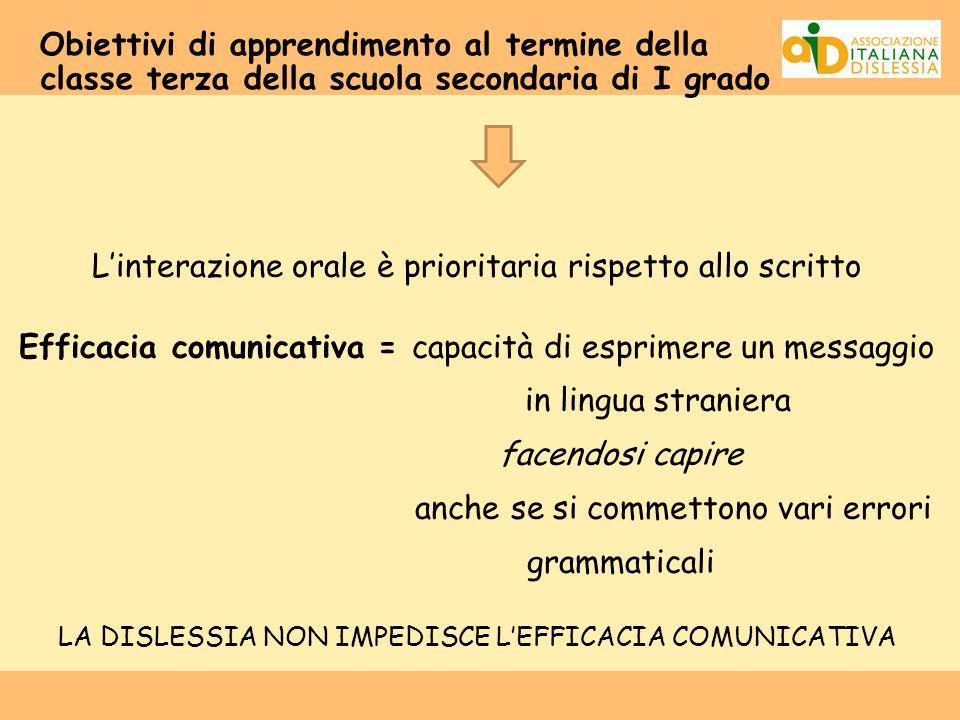 L'interazione orale è prioritaria rispetto allo scritto