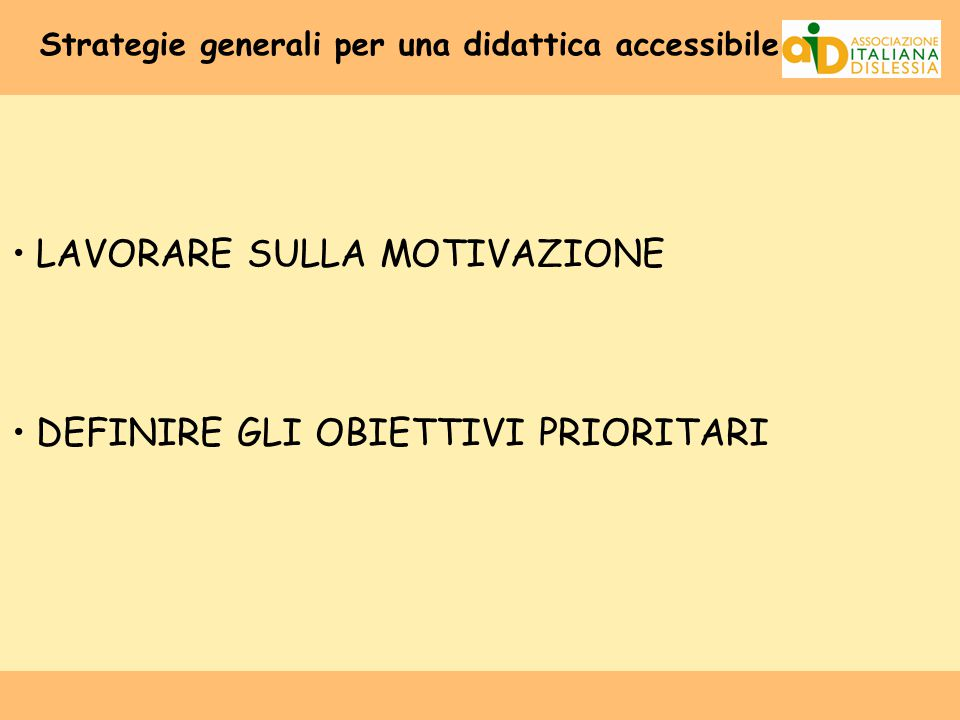 Strategie generali per una didattica accessibile