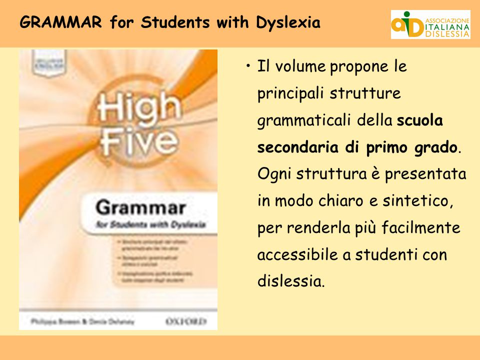 GRAMMAR for Students with Dyslexia