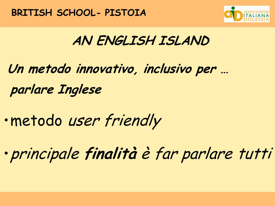 BRITISH SCHOOL- PISTOIA