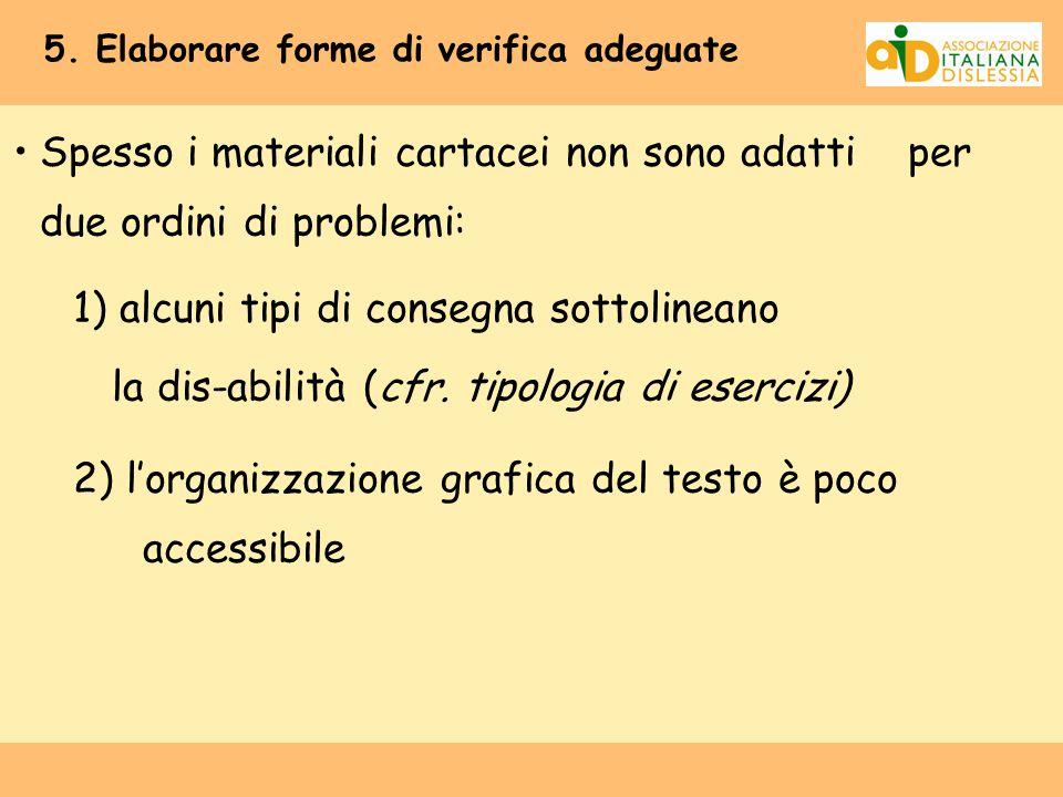 5. Elaborare forme di verifica adeguate