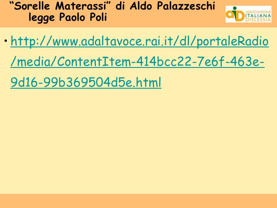 Sorelle Materassi di Aldo Palazzeschi legge Paolo Poli