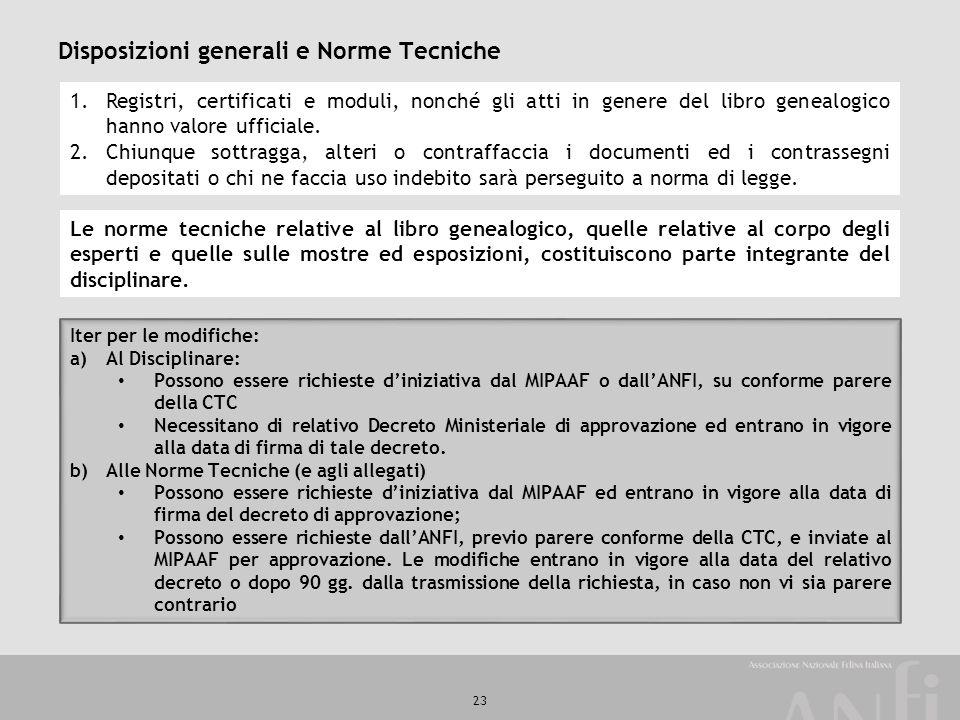 Disposizioni generali e Norme Tecniche