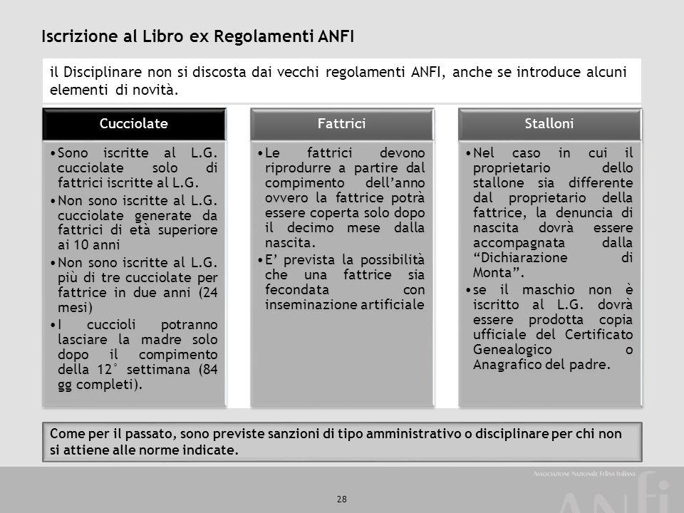 Iscrizione al Libro ex Regolamenti ANFI