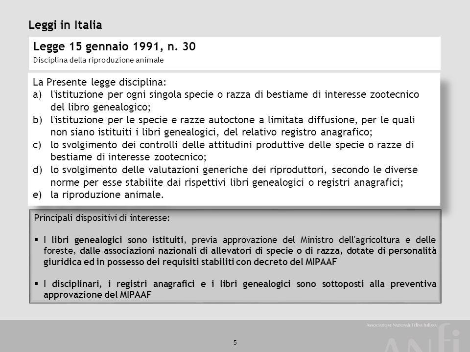 Leggi in Italia Legge 15 gennaio 1991, n. 30