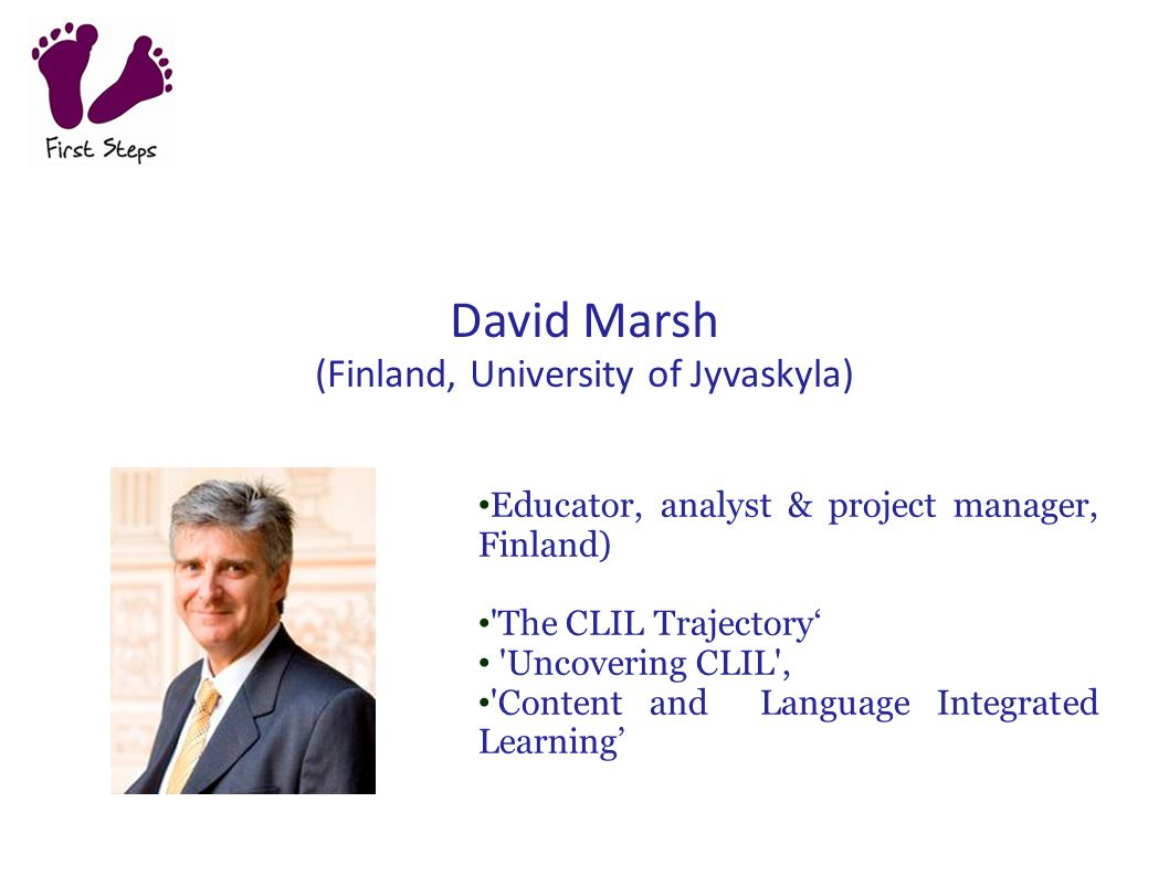 David Marsh (Finland, University of Jyvaskyla)