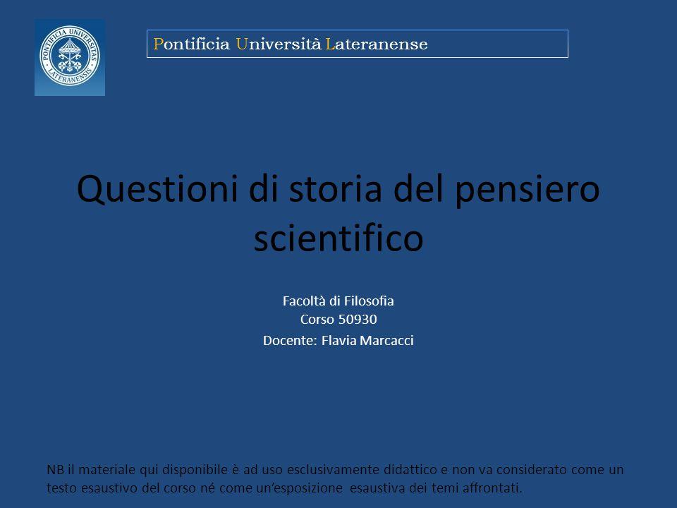 Questioni di storia del pensiero scientifico