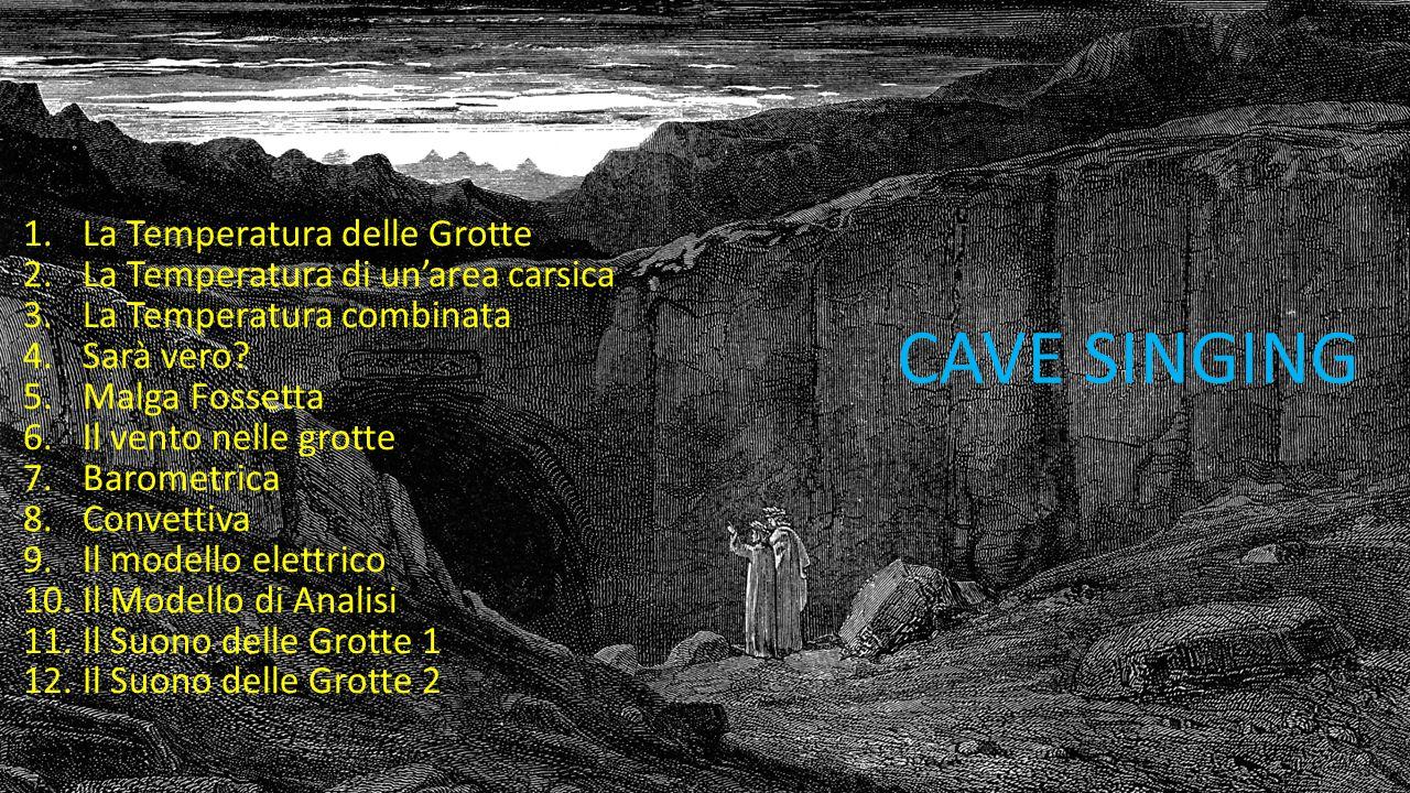 CAVE SINGING La Temperatura delle Grotte
