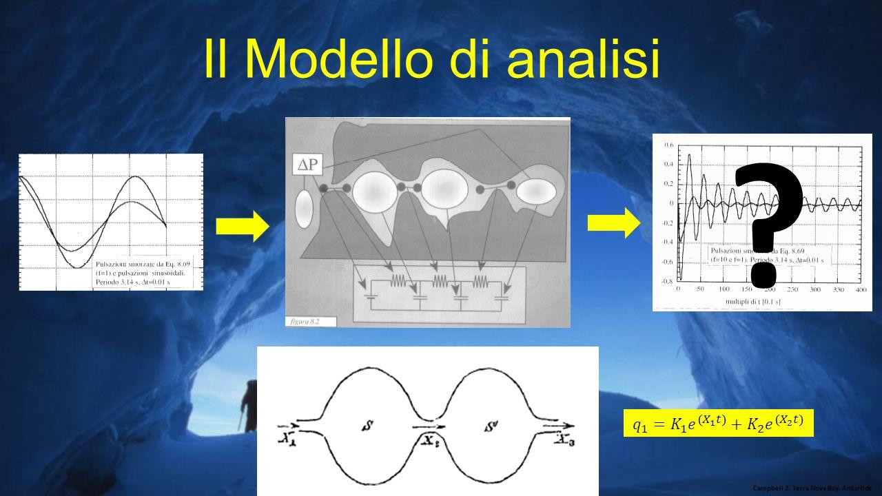 Il Modello di analisi 𝑞 1 = 𝐾 1 𝑒 𝑋 1 𝑡 + 𝐾 2 𝑒 𝑋 2 𝑡