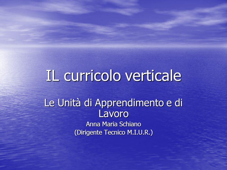 IL curricolo verticale
