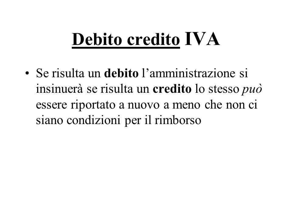 Debito credito IVA