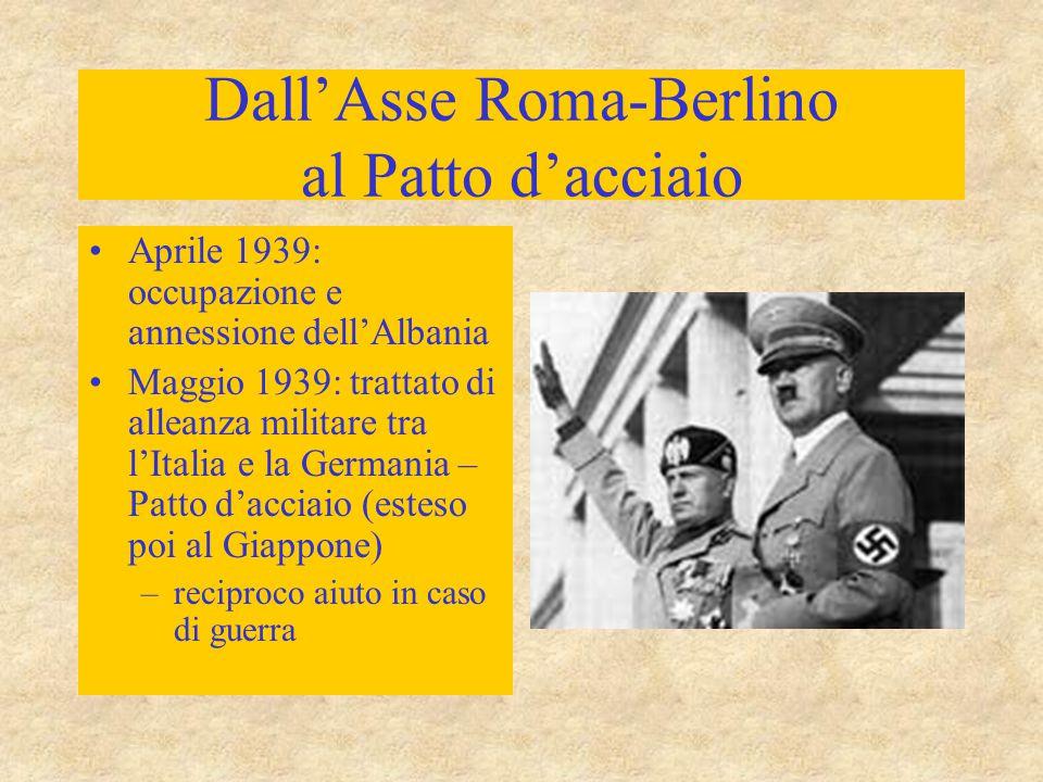 Dall'Asse Roma-Berlino al Patto d'acciaio
