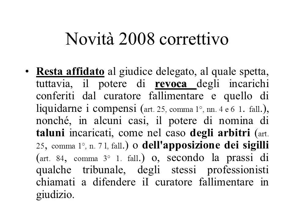 Novità 2008 correttivo