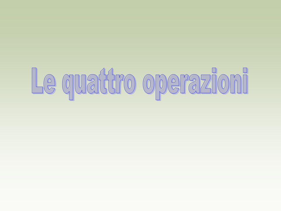 Le quattro operazioni