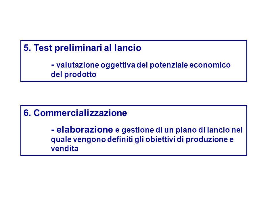 5. Test preliminari al lancio