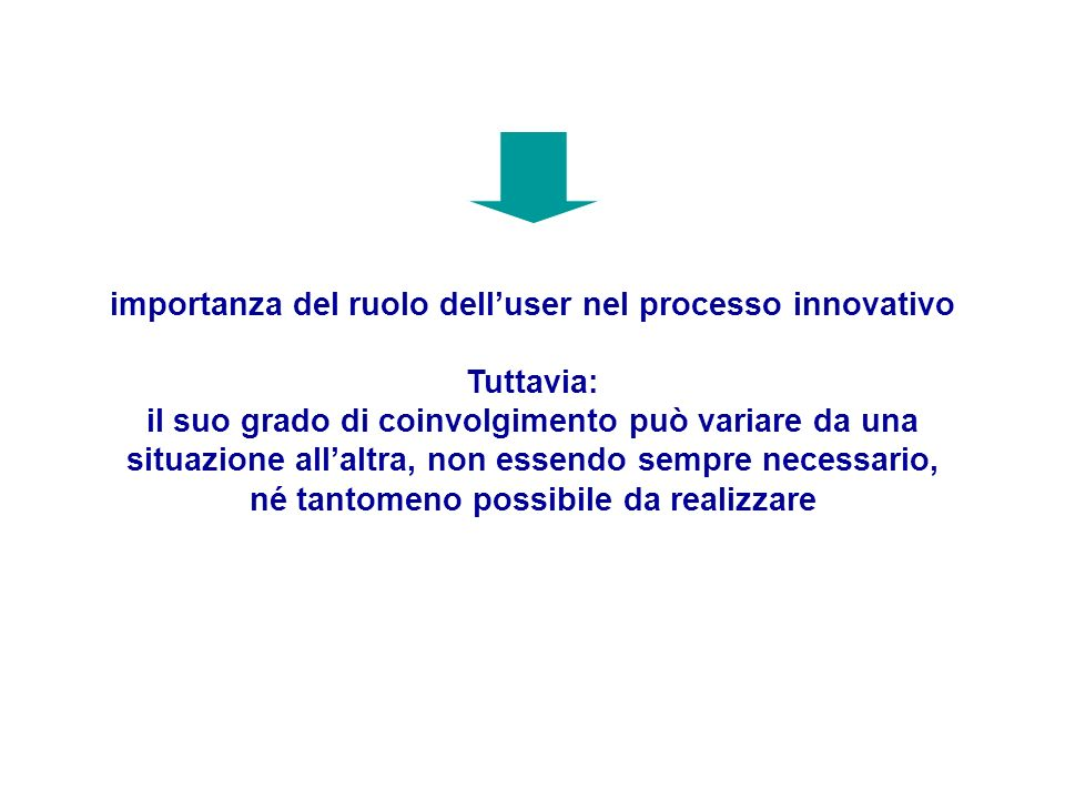 importanza del ruolo dell'user nel processo innovativo